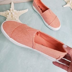 NEW Nature Breeze Blush Slip On Sneakers